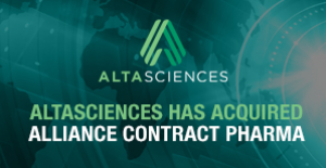 Altasciences Adds Comprehensive Contract Manufacturing and Analytical Services to its Early Phase Research Offering