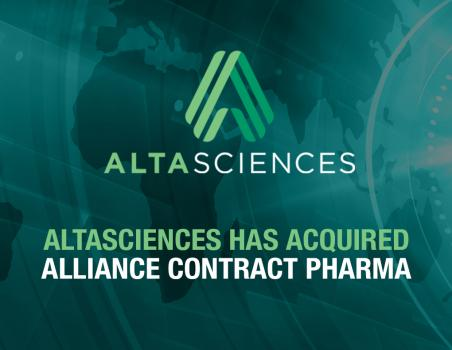 Altasciences announced that it has acquired Alliance Contract Pharma.