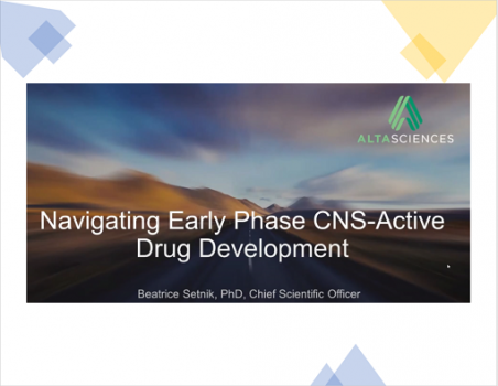 WEBINAR - Navigating Early Phase CNS-Active Drug Development with Dr. Beatrice Setnik, CSO