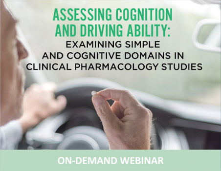 WEBINAR - Assessing Cognition and Driving Ability in Clinical Pharmacology Studies
