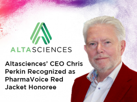 Altasciences' CEO Chris Perkin Recognized as PharmaVoice Red Jacket Honoree