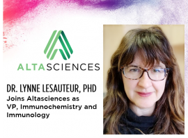 Lynne LeSauteur, PhD, Joins Altasciences as Vice President, Immunochemistry and Immunology