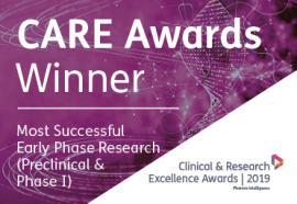 CARE Awards Winner: Most Successful Early Phase Research (Preclinical & Phase I)