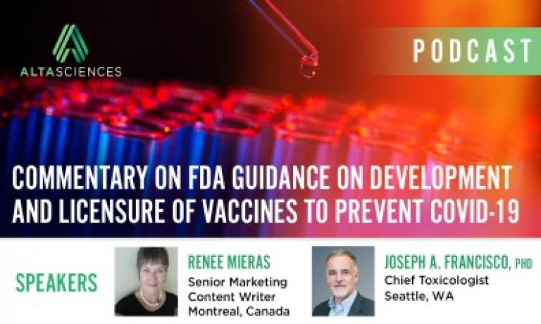 Commentary on FDA Guidance on Development and Licensure of Vaccines to Prevent COVID-19