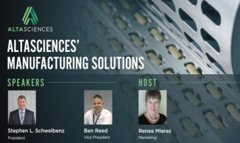 PODCAST - Altasciences' Manufacturing Solutions