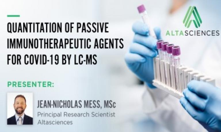 Quantitation of Passive Immunotherapeutic Agents for COVID-19 by LC-MS