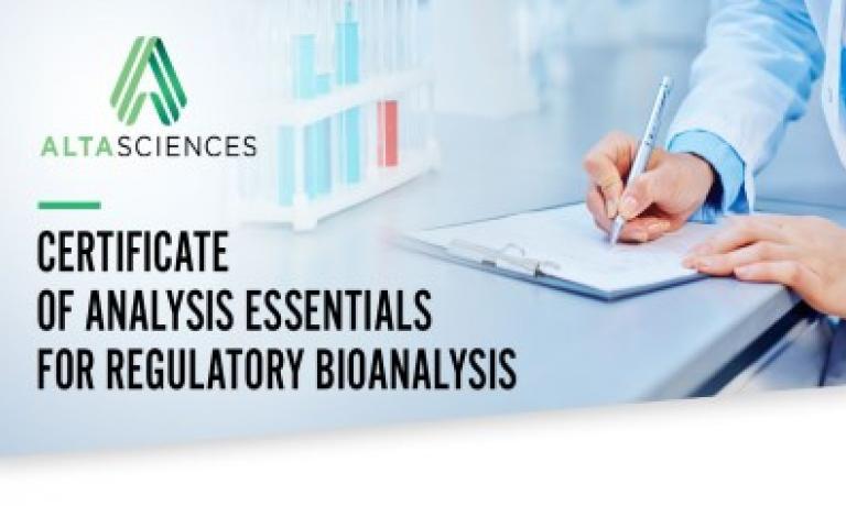 Certificate of Analysis Essentials for Regulated Bioanalysis