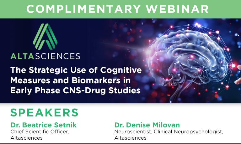 WEBINAR - The Brain on Drugs: The Strategic Use of Cognitive Measures and Biomarkers in Early-Phase CNS Drug Studies