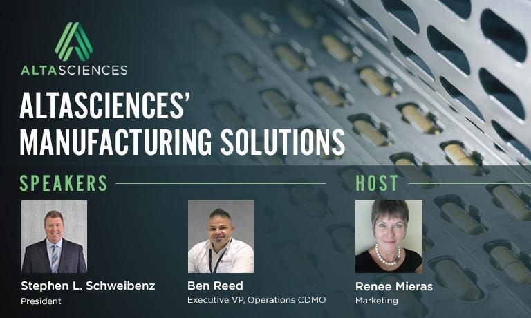 Altasciences' Manufacturing Solutions
