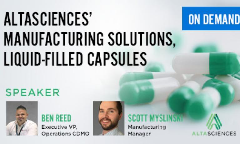 Altasciences' Manufacturing Solutions Liquid-Filled Capsules