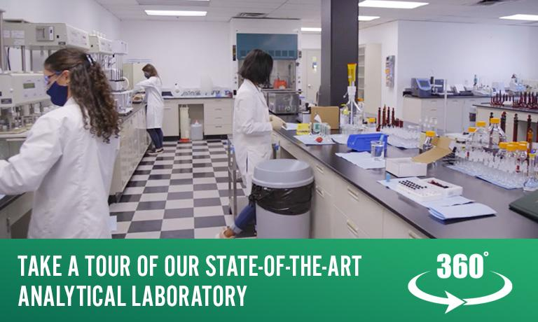 Tour our Analytical Laboratory
