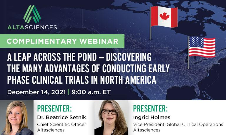December 14: A leap across the pond – the many advantages of conducting early phase trials in North America